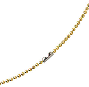 "30"" Brass-Plated Steel Beaded Neck Chain with Connector"