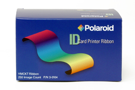 3-0100-1 Polaroid/Valid YMCKT Full Color Ribbon with Overlay - 500 Images