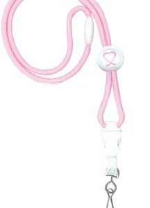 2138-528# Round Awareness Lanyard with Ribbon Label on Slider - 100 pack