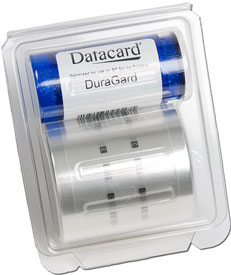503851-101 Datacard 0.5 Mil  Clear Overlaminate, Duraguard - Mag Stripe  - 375 Images - Replaces 562752-001