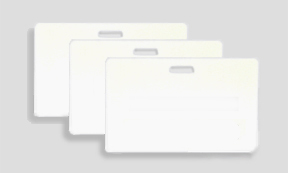 Blank PVC Cards Horizontal Sloted, 30 mil - Box 500