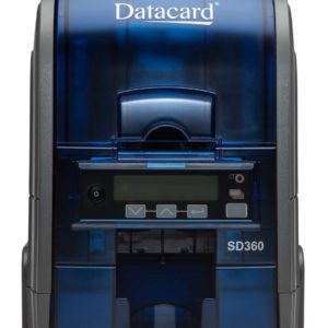 DataCard SD360 Duplex Printer w 100-Card Input Hopper (includes ISO Magnetic Stripe, Single Wire DUALi Smart Card Contact/Contactless Reader/Encoder)
