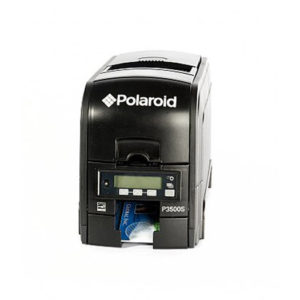 Polaroid/Valid P3500SL single-sided long body ID card printer (USB/Ethernet) w/ mag stripe and smart card encoder (contact chip & MIFARE/DESFire)